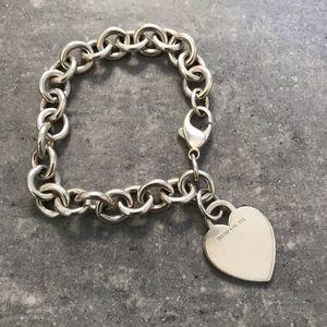 "Tiffany heart bracelet 7"""